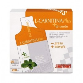 L-Carnitina Plus + Té Verde 20 Geles Nutrisport