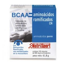 AMINOÁCIDOS RAMIFICADOS NUTRISPORT 100 Cápsulas 500mg